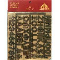 Αυτοκόλλητα χρυσά γράμματα και αριθμοί σε καρτέλλα 18-16