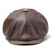 Ανδρικό μάλλινο καπέλο μπερέ με προστασία αυτιών.