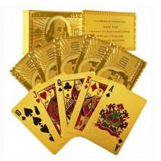 Αδιάβροχη χρυσή τράπουλα δολάριο Texas Poker OEM 915279