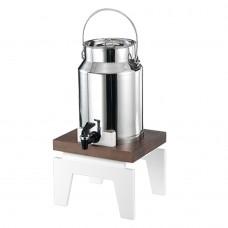 Διανεμητής Γάλακτος VARIO μονός με βάση οξιάς και μεταλλικό ανοξείδωτο δοχείο 5 λίτρων GARIBALDI DVD02-50
