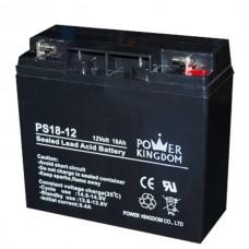 Μπαταρία μολύβδου Power Kingdom PS18-12   12Volt-18Ah