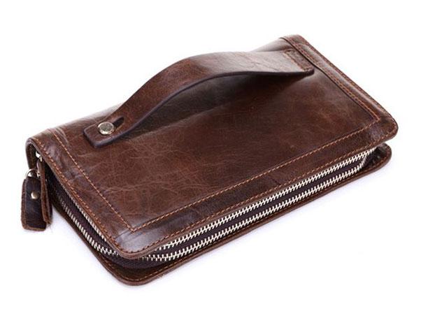 37dd4aa6dd Hamradio.net Ανδρικό δερμάτινο πορτοφόλι τσαντάκι bifold long wallet OEM
